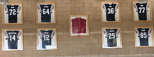 Jerseys from the victims of the tragic 1971 bus wreck.